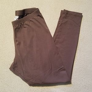 J. JILL PIMA COTTON ANKLE LEGGINGS SZ MEDIUM